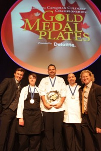 Olympian Simon Whitfield, Chef Doreen Prei, Chef Paul Schufelt, Chef Paul Campbell and Olympain Curt Harnett