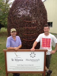 At Richmond Plains & Te Mania with Lars Jensen owner of Richmond Plains plus  winemaker Steve Gill